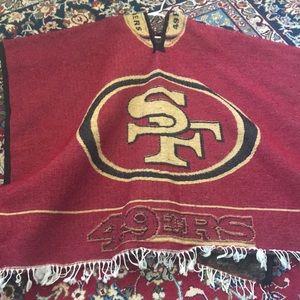 San Francisco 49ers Knit Poncho